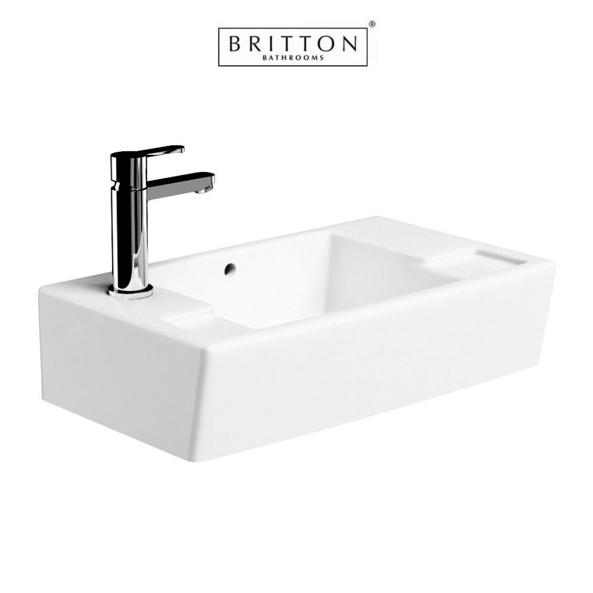 Britton Narrow Wall Hung Unit and Washbasin : UK Bathrooms