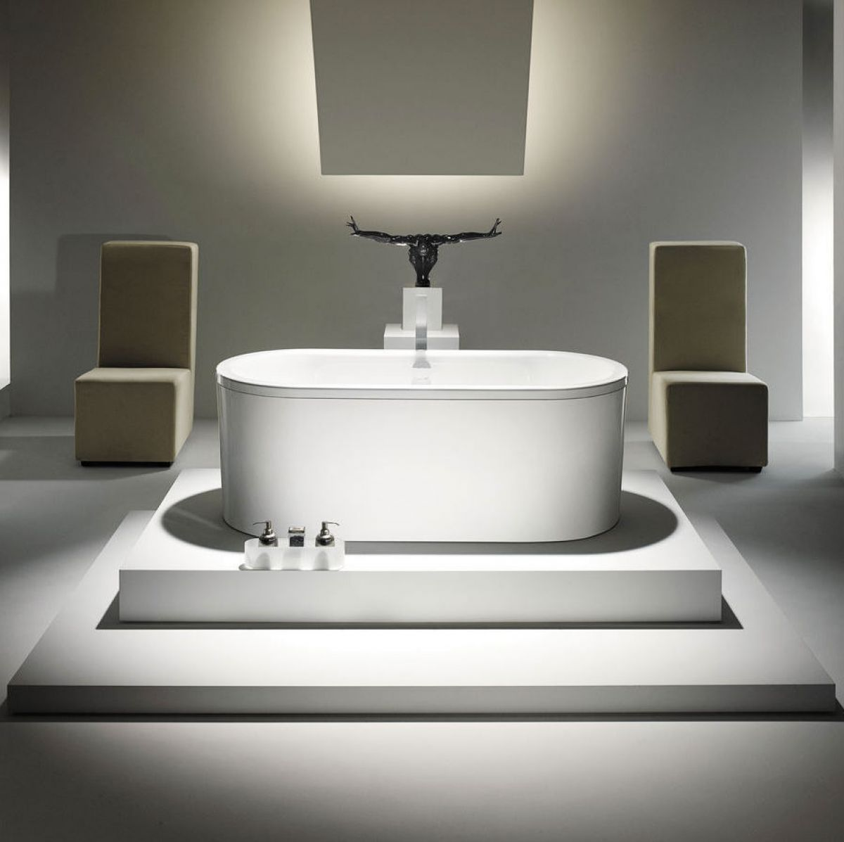 Kaldewei centro duo oval freestanding bath uk bathrooms for Bathroom bath