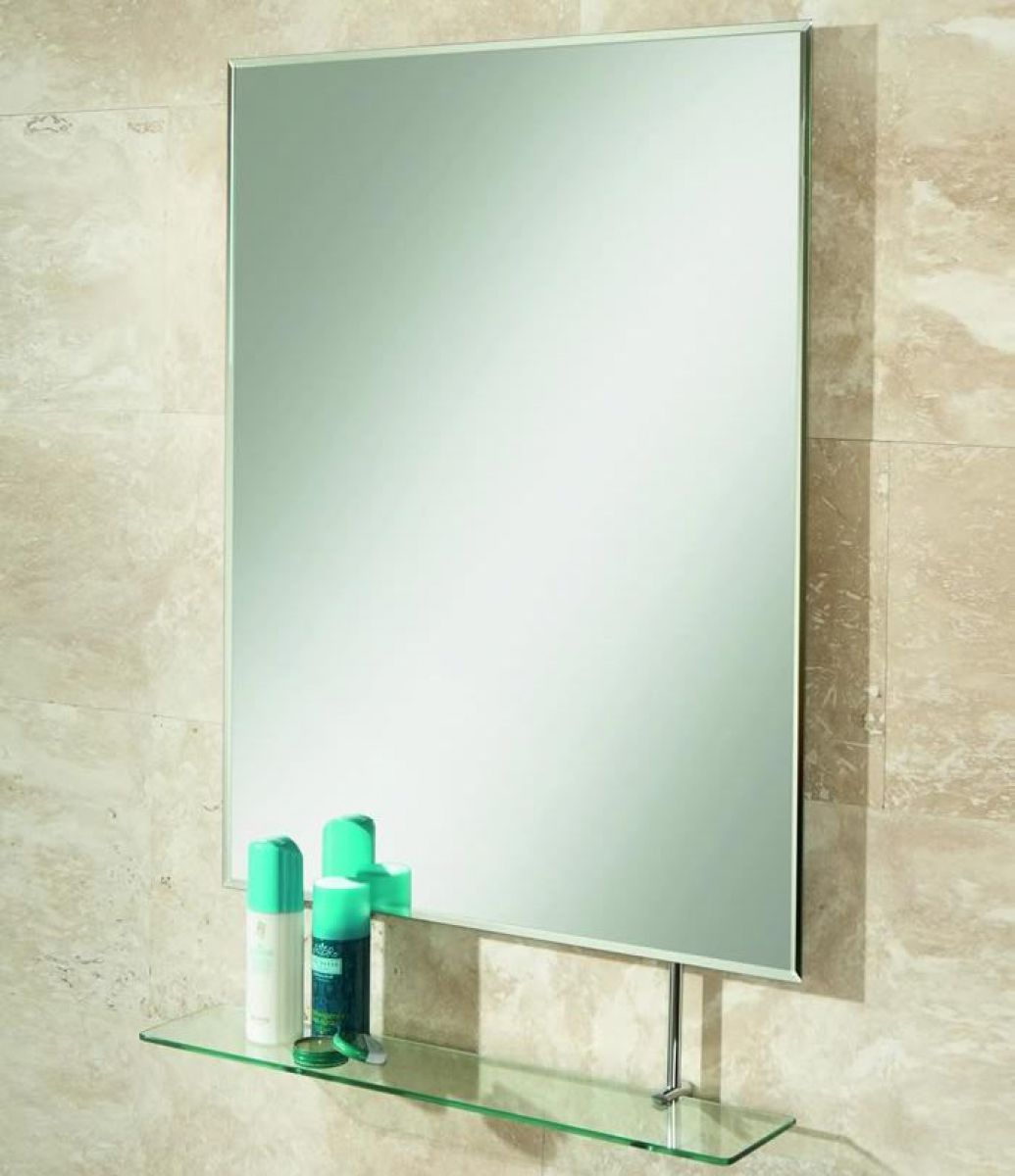 Bathroom mirror with shelf uk - Hib Tapio Bathroom Mirror With Shelf