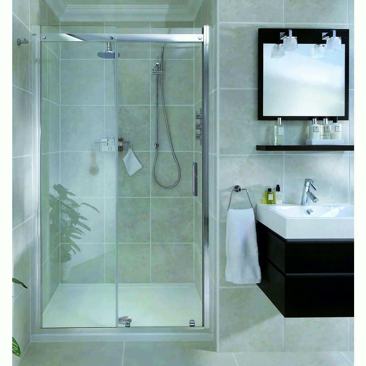 Aqata Spectra Sliding Shower Door SP300 (Recess) : UK Bathrooms