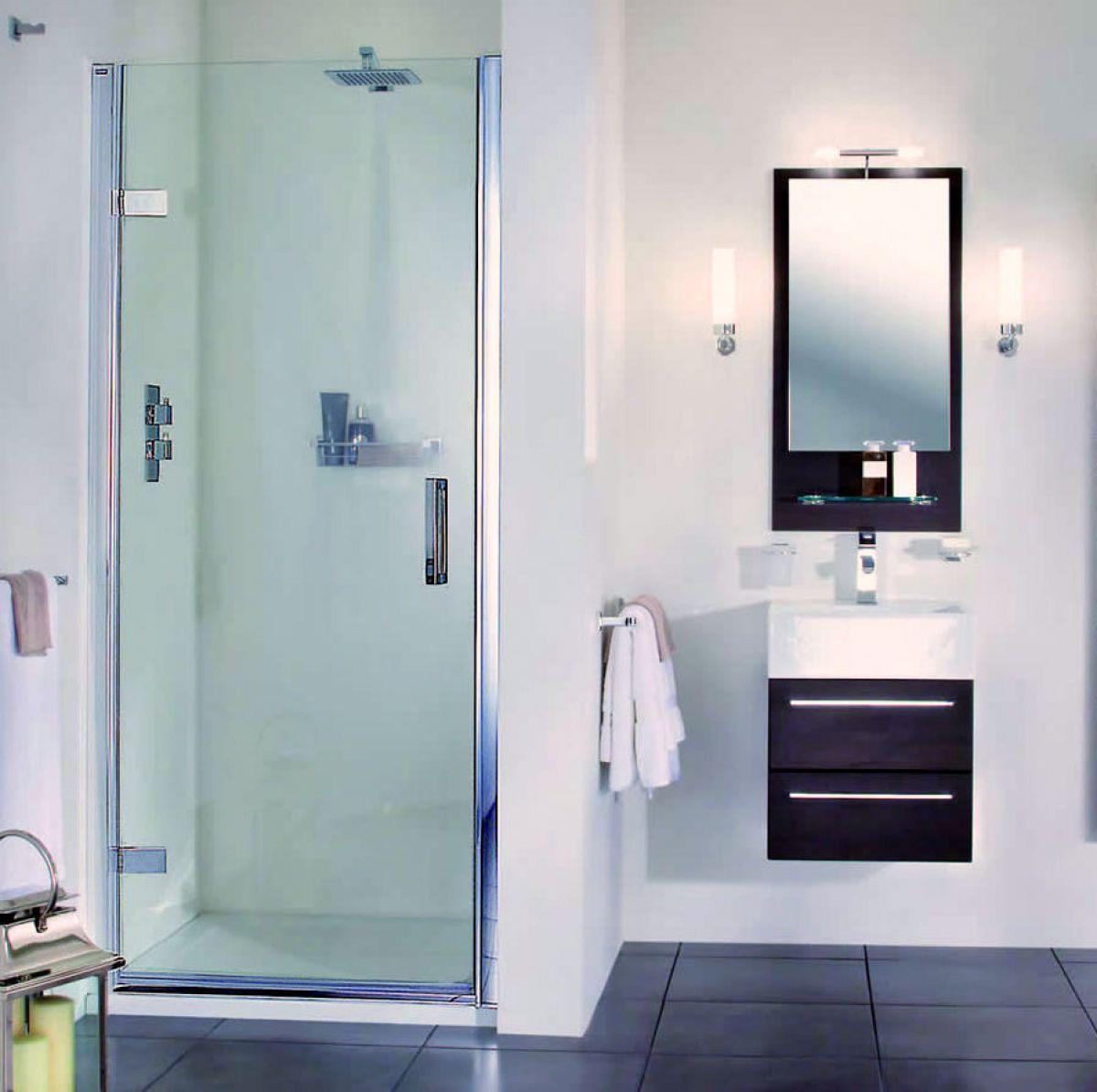 Aqata Spectra Hinged Door Shower Enclosure SP455 (Recess) : UK Bathrooms