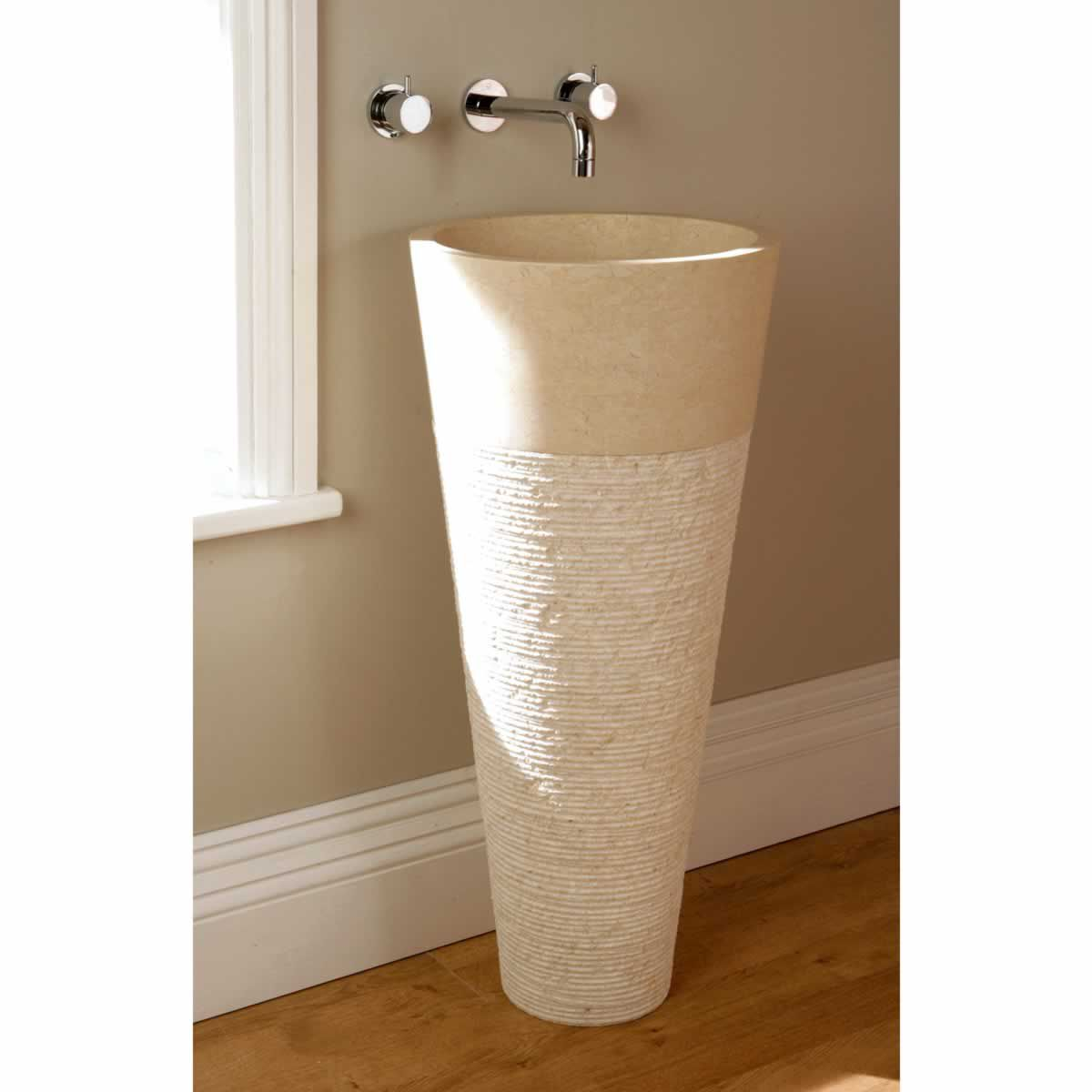 Finwood Designs Floor Standing Cone Bathroom Basin Crema