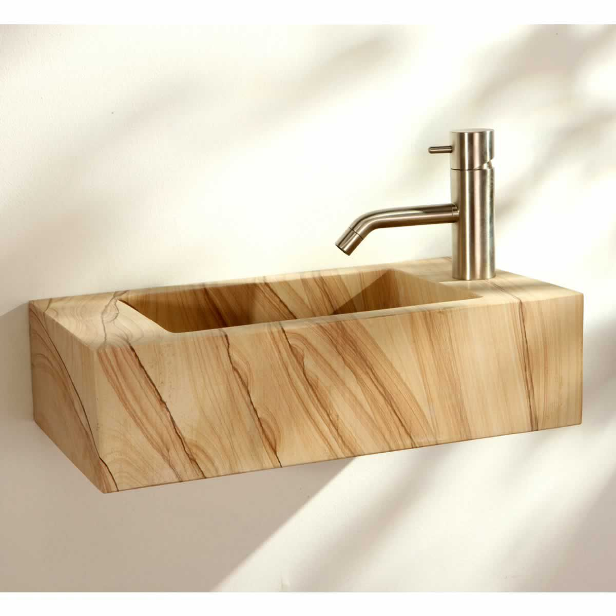Finwood Designs Wall Hung Rectangular Stone Basin : UK Bathrooms