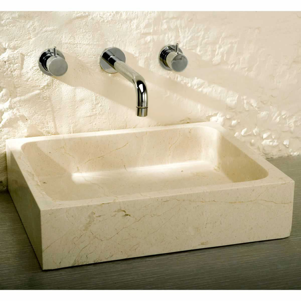 Finwood Designs Rectangular Stone Countertop Basin Uk