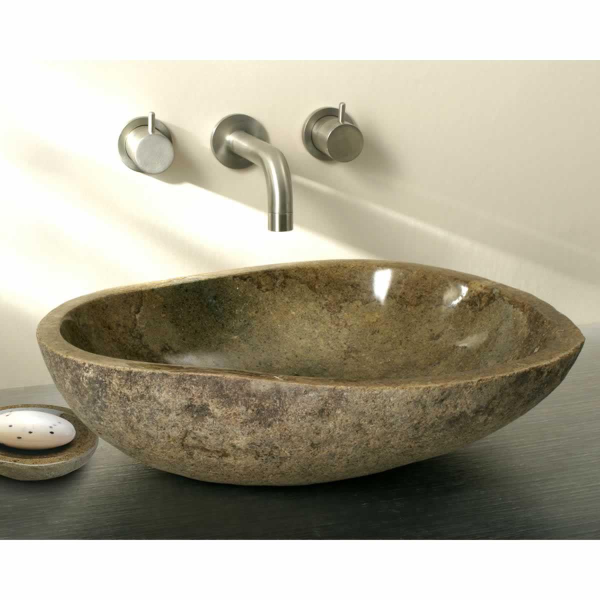 Finwood Designs Pebble Sit-on Granite Wash Bowl : UK Bathrooms