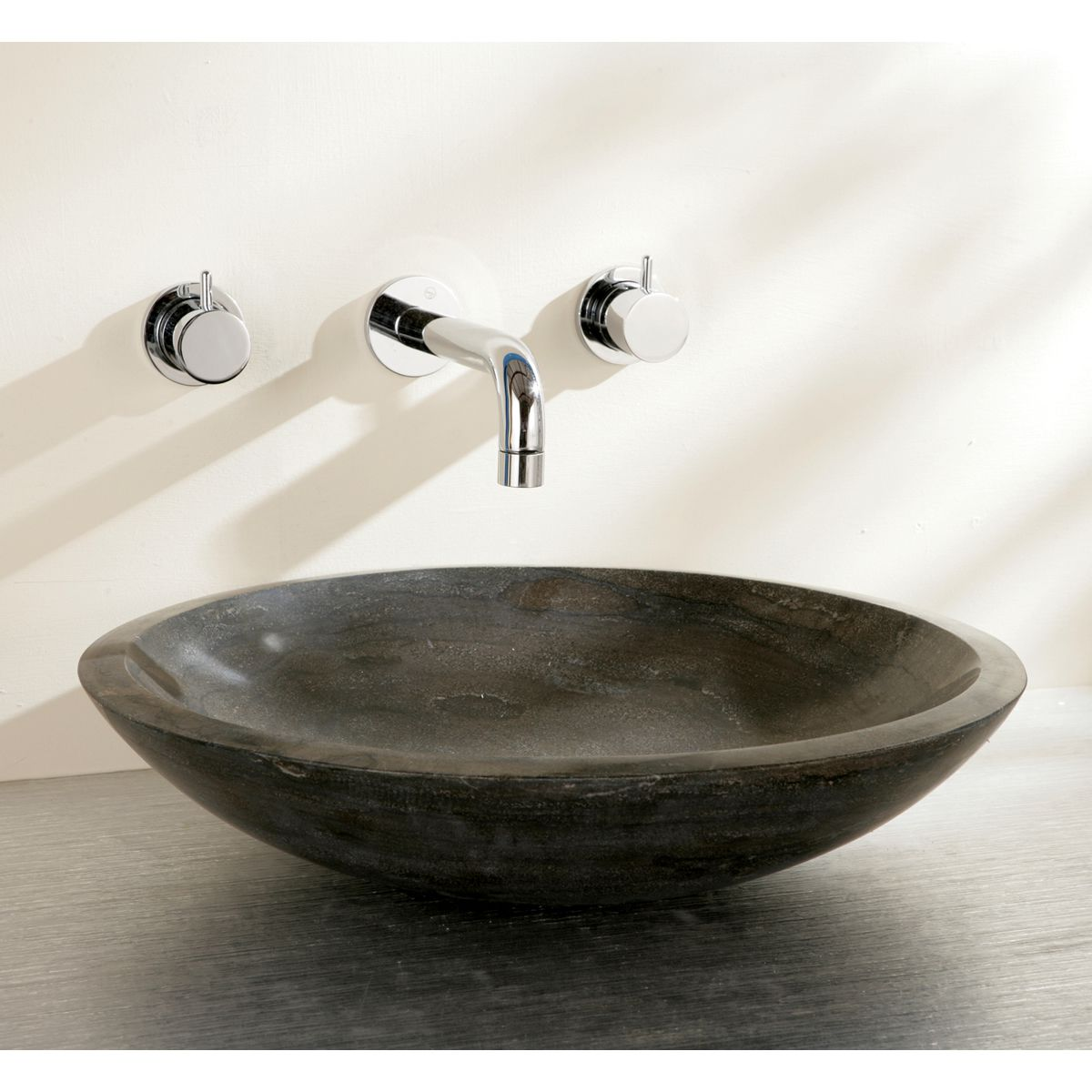 finwood designs shallow stone countertop basin uk bathrooms. Black Bedroom Furniture Sets. Home Design Ideas