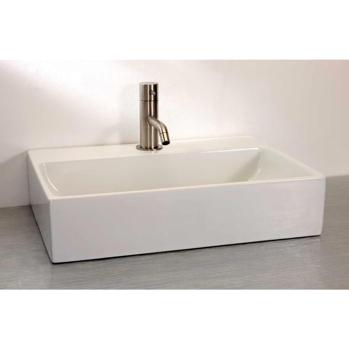 Bathroom Basin Countertop : Finwood Designs Thin Rectangular Countertop Basin : UK Bathrooms