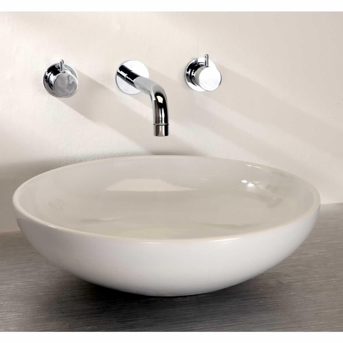 Round Bathroom Basin : Finwood Designs Thin Tondo Round Bathroom Basin : UK Bathrooms