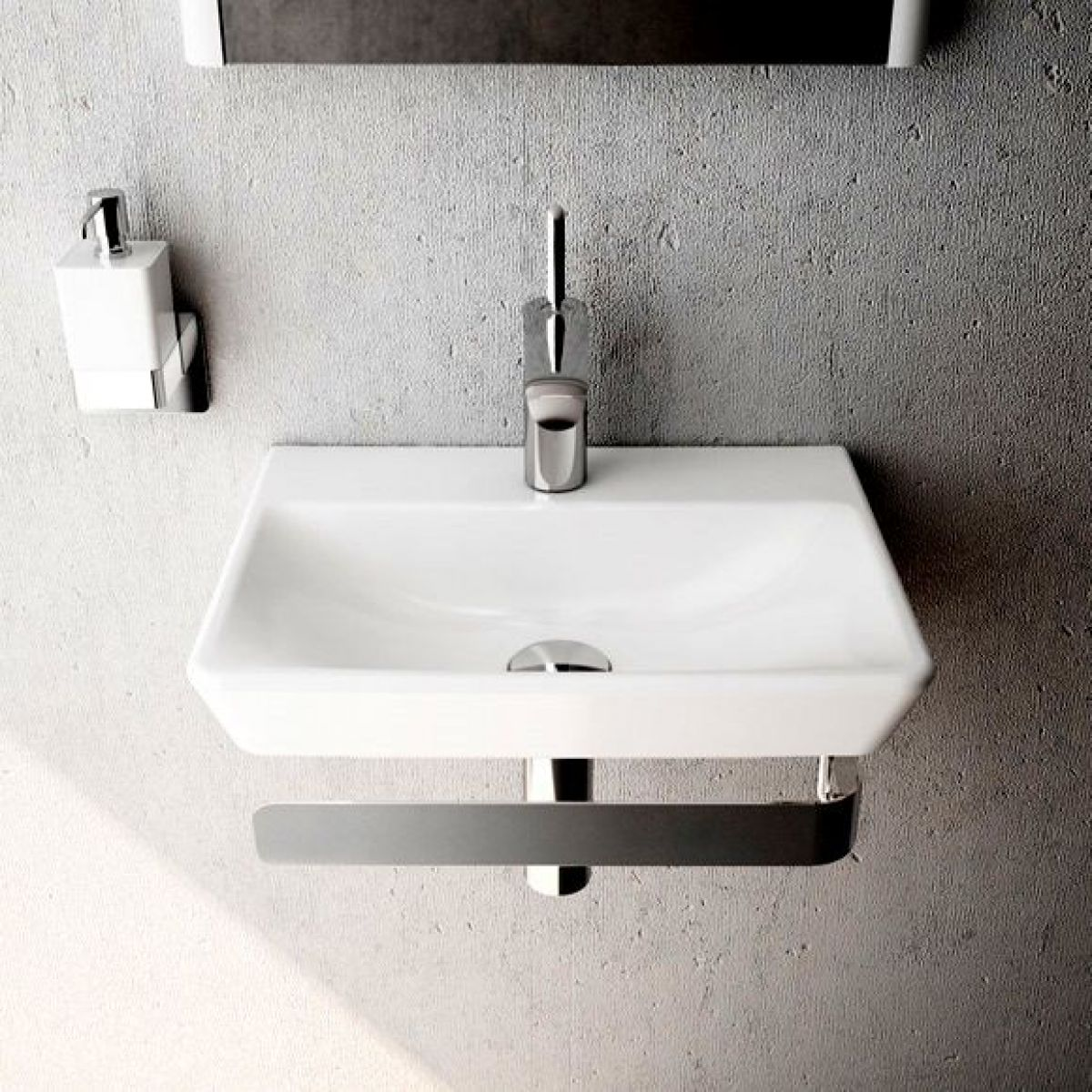 Vitra T4 Cloakroom Basin - 450mm : UK Bathrooms