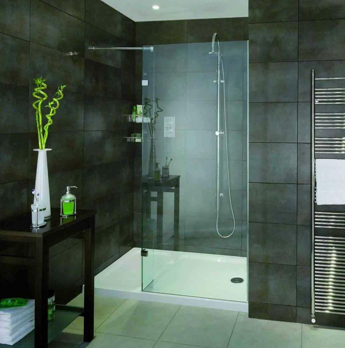 Aqata Spectra Walk-In Shower Enclosure with Return Panel SP420 : UK ...