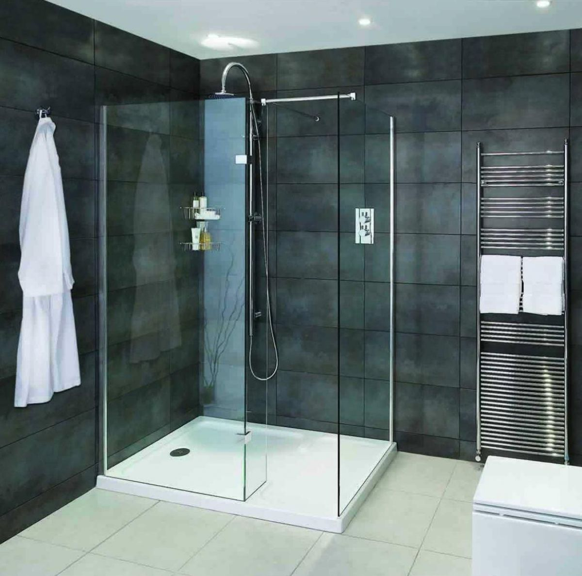 Aqata spectra walk in shower enclosure with hinged panel for Walk in shower plans and specs