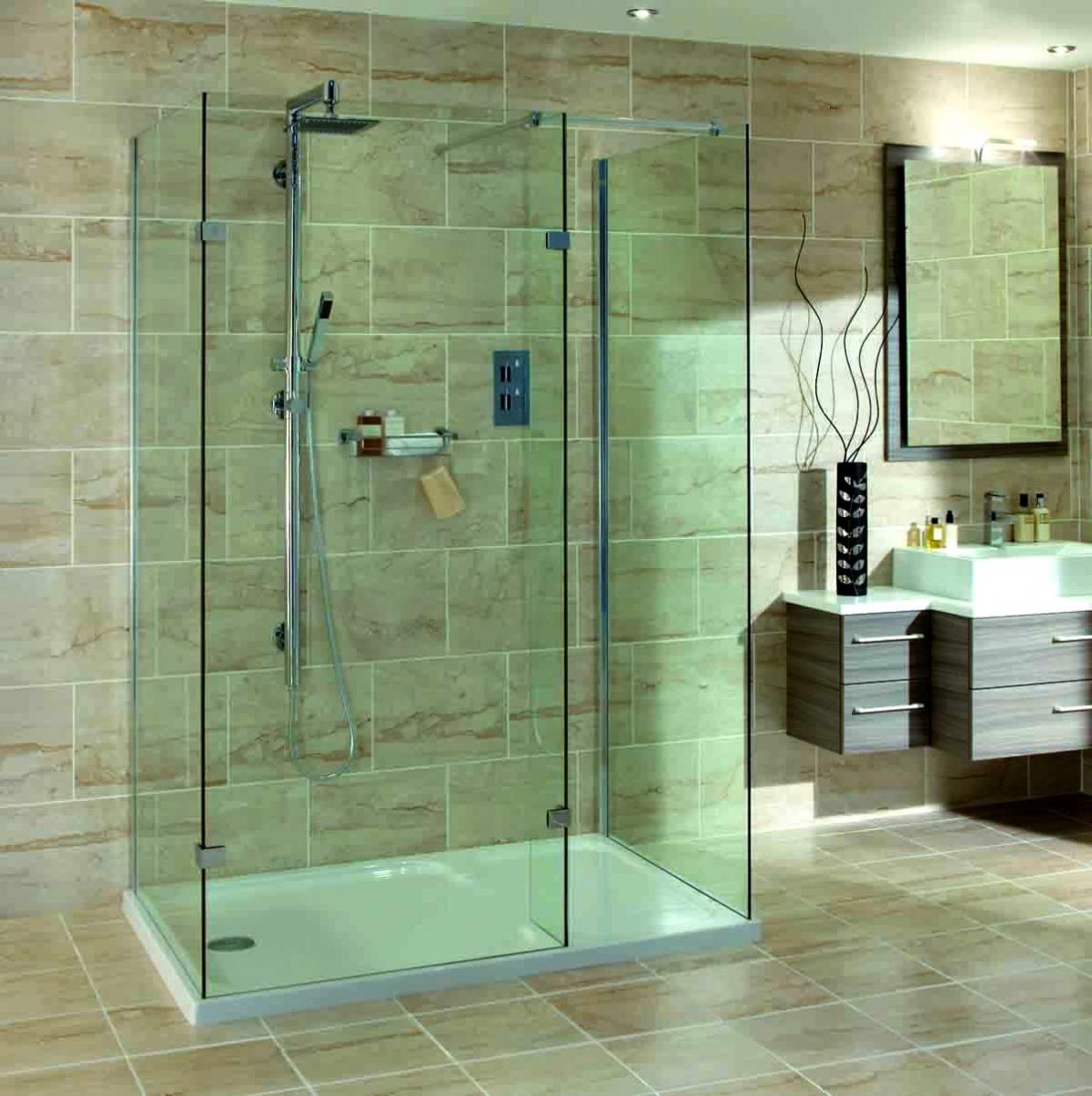 Aqata Spectra Walk In 3 Sided Shower Enclosure Sp435 Uk