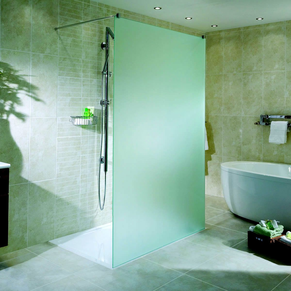 Aqata Spectra Twin Entry Etched Shower Enclosure Sp440