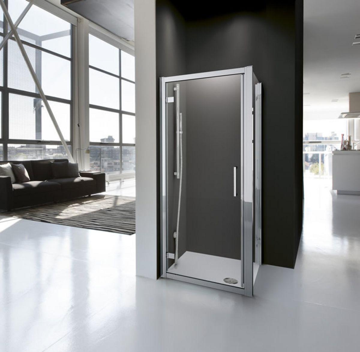 Novellini kuadra g contemporary pivot shower door for Novellini shower doors