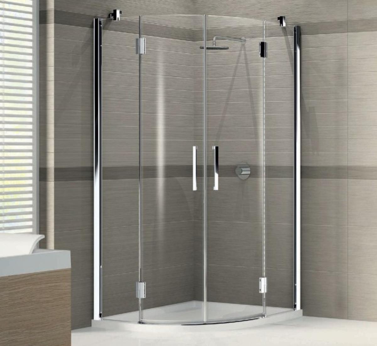 Novellini louvre contemporary quadrant shower enclosure for Novellini shower doors