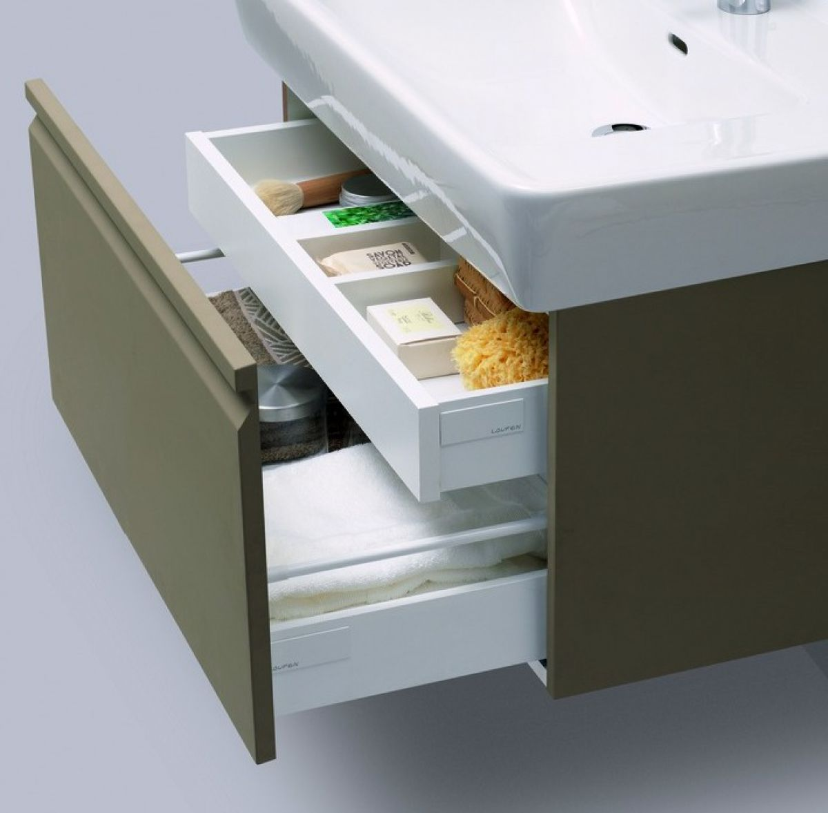 Laufen pro 47cm vanity unit with basin uk bathrooms for Meuble laufen pro s