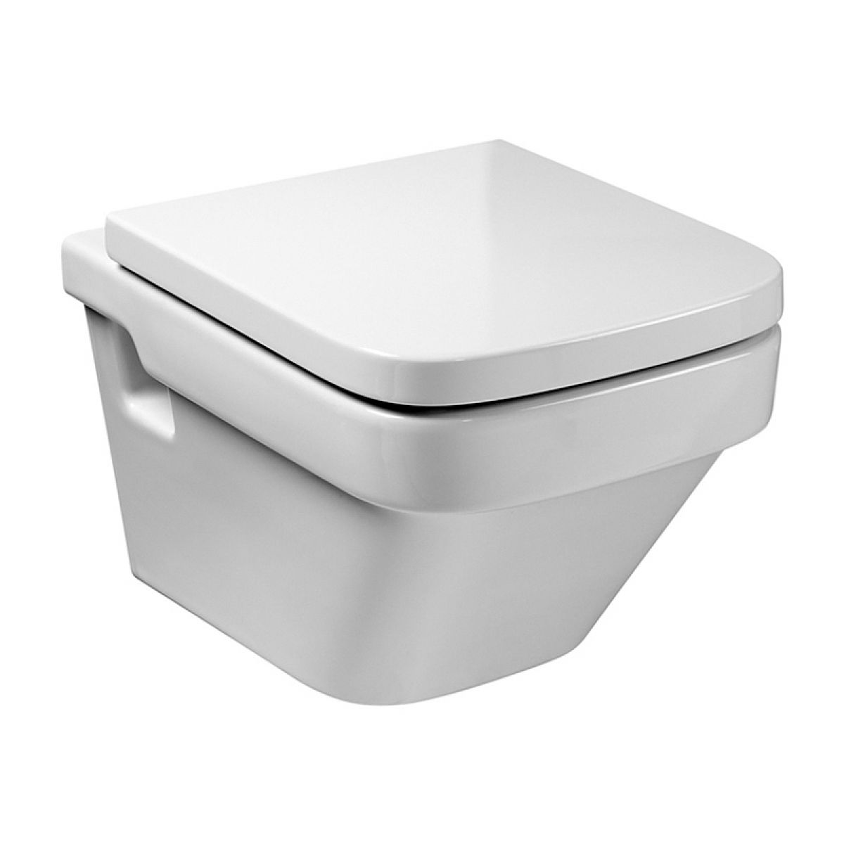 Roca dama n wall hung toilet with seat uk bathrooms for Roca dama toilet