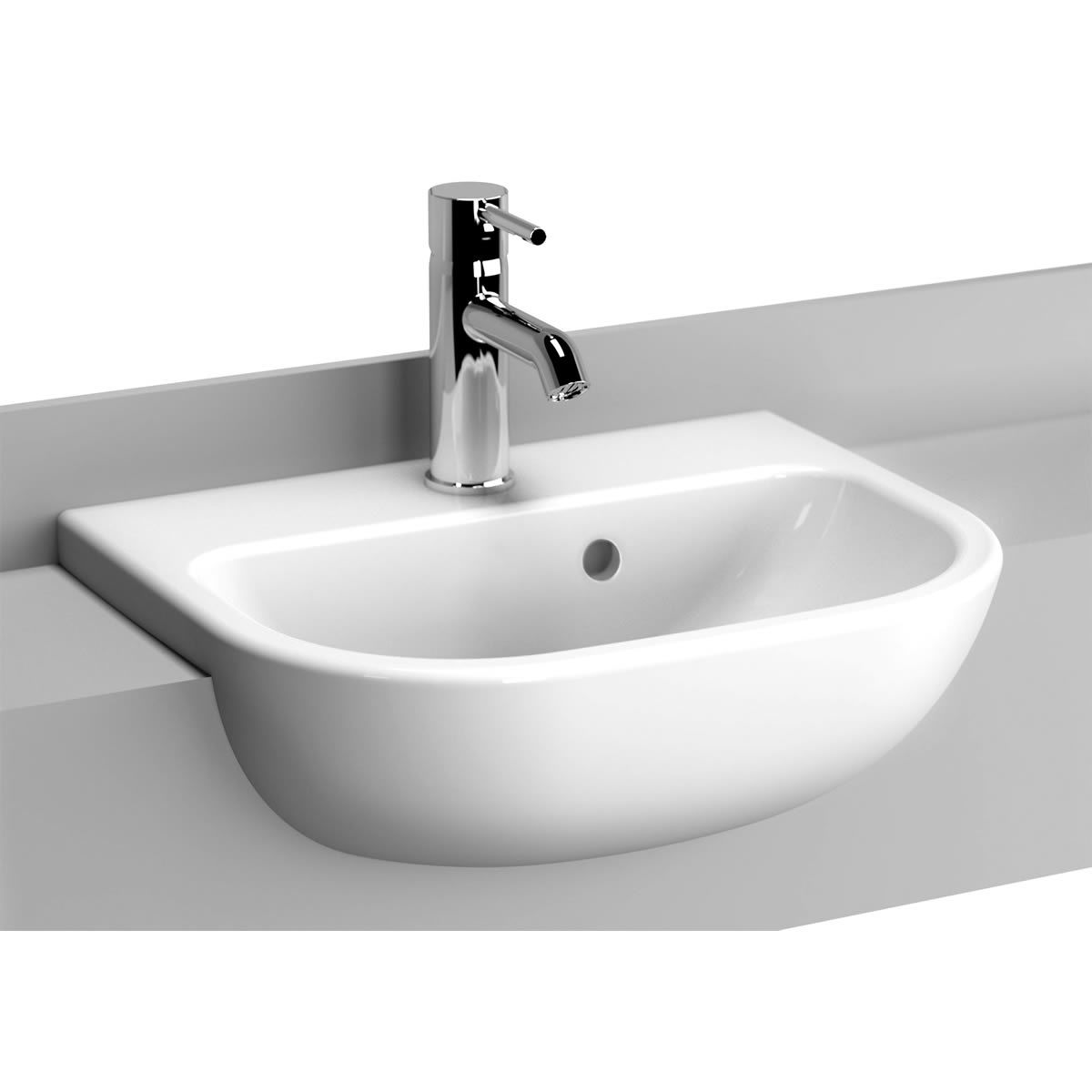 Home Bathroom Basins Semi Recessed Basins