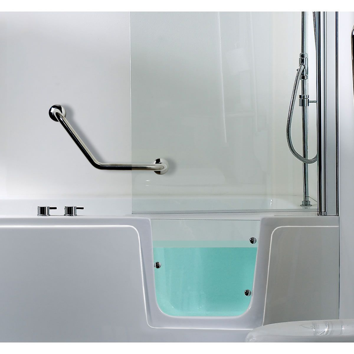 Phoenix ambulant comfort walk in shower bath package uk bathrooms - Bathtub in shower ...