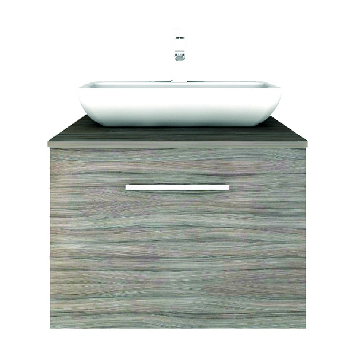 Shades Modular 600mm Deep Drawer Unit And Countertop Basin UK Bathrooms