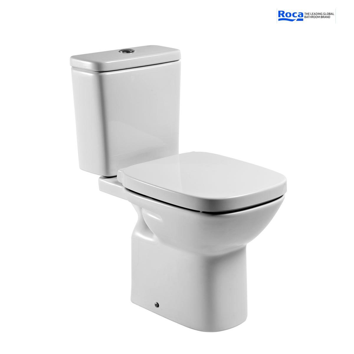 roca debba open back eco close coupled toilet uk bathrooms. Black Bedroom Furniture Sets. Home Design Ideas