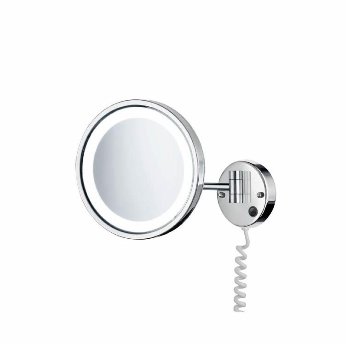 Smedbo Swing Arm Shaving Mirror With Led Lighting Uk