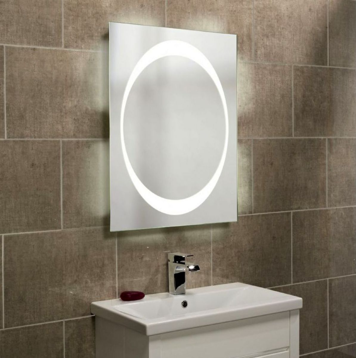 Roper Rhodes Clarity Equator backlit mirror : UK Bathrooms