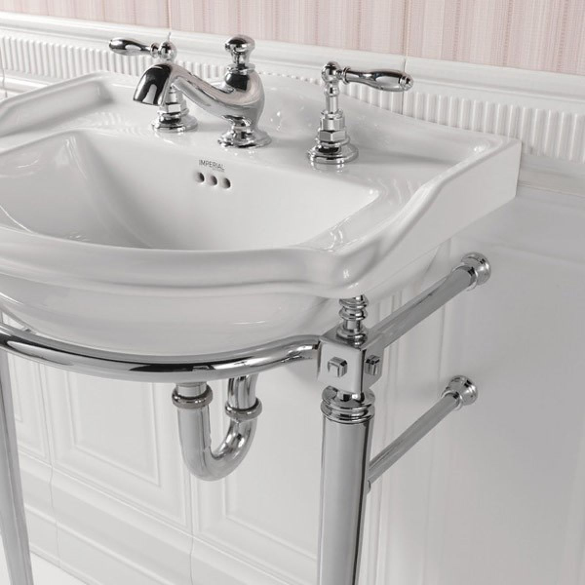 Imperial Drift Cloakroom Basin Stand With Towel Rail And
