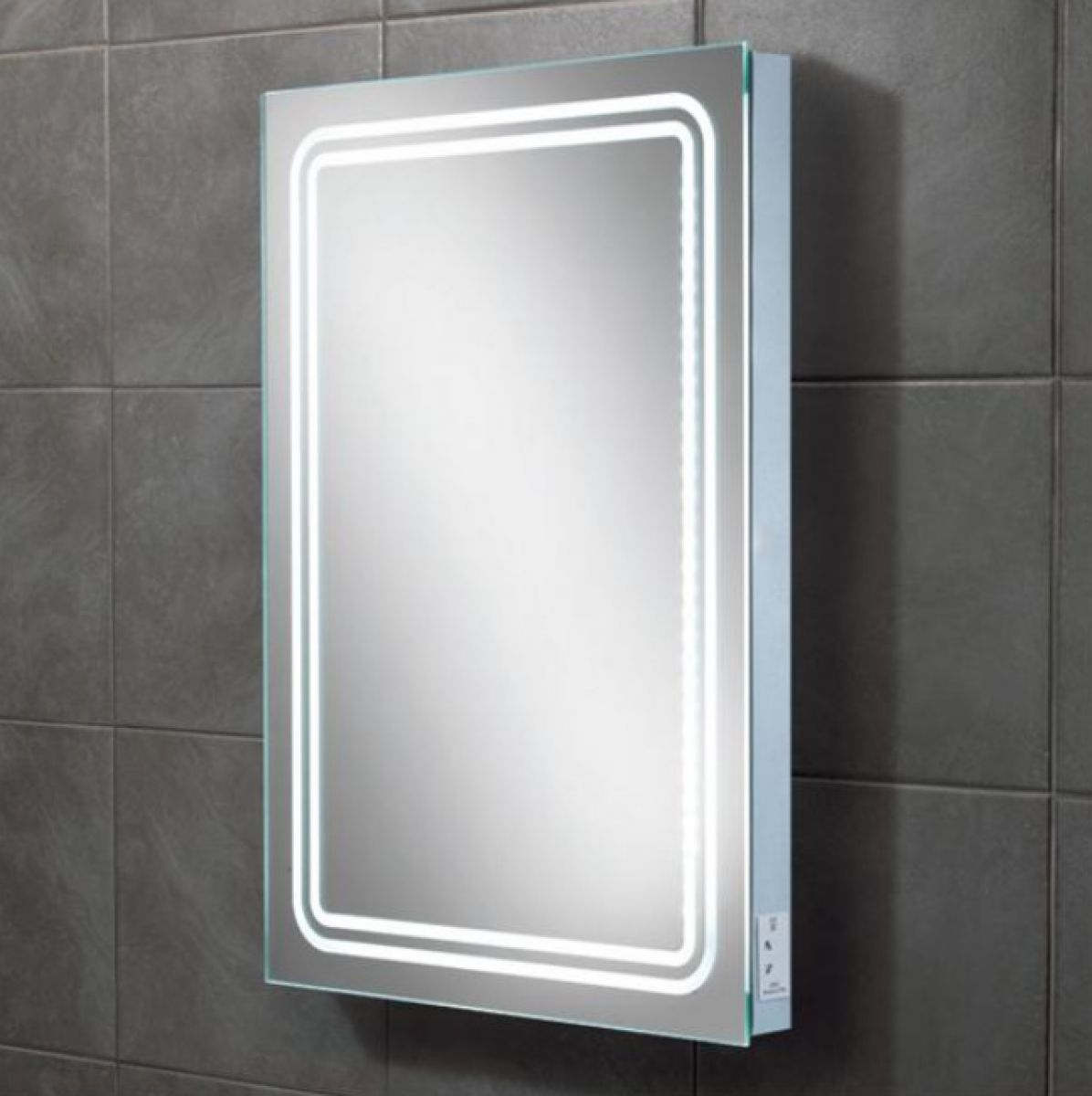 Illuminated Mirrors Bathroom: HIB Rotary Illuminated Bathroom Mirror : UK Bathrooms
