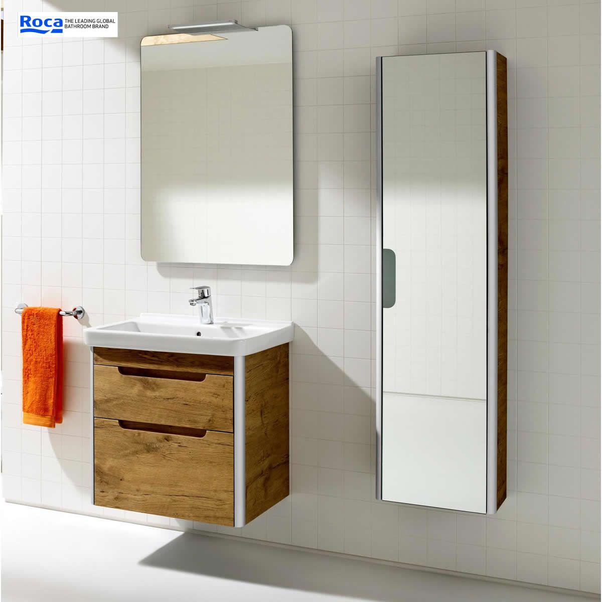 Roca dama n tall mirror column unit uk bathrooms for Roca bathroom fittings