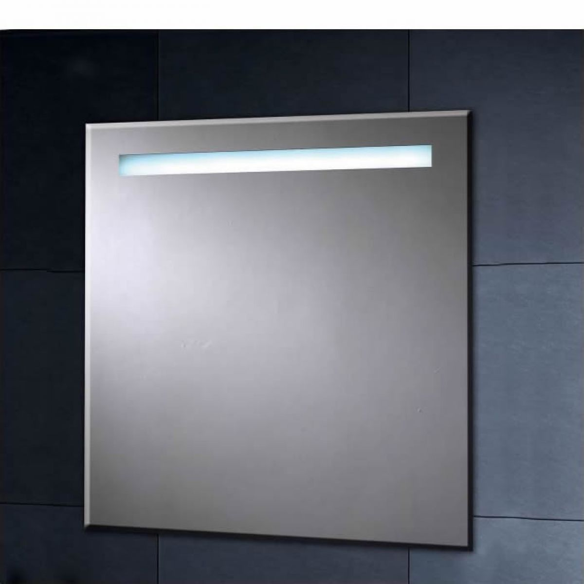 Phoenix illuminated heated mirror with shaver socket 600mm for Heated bathroom mirror