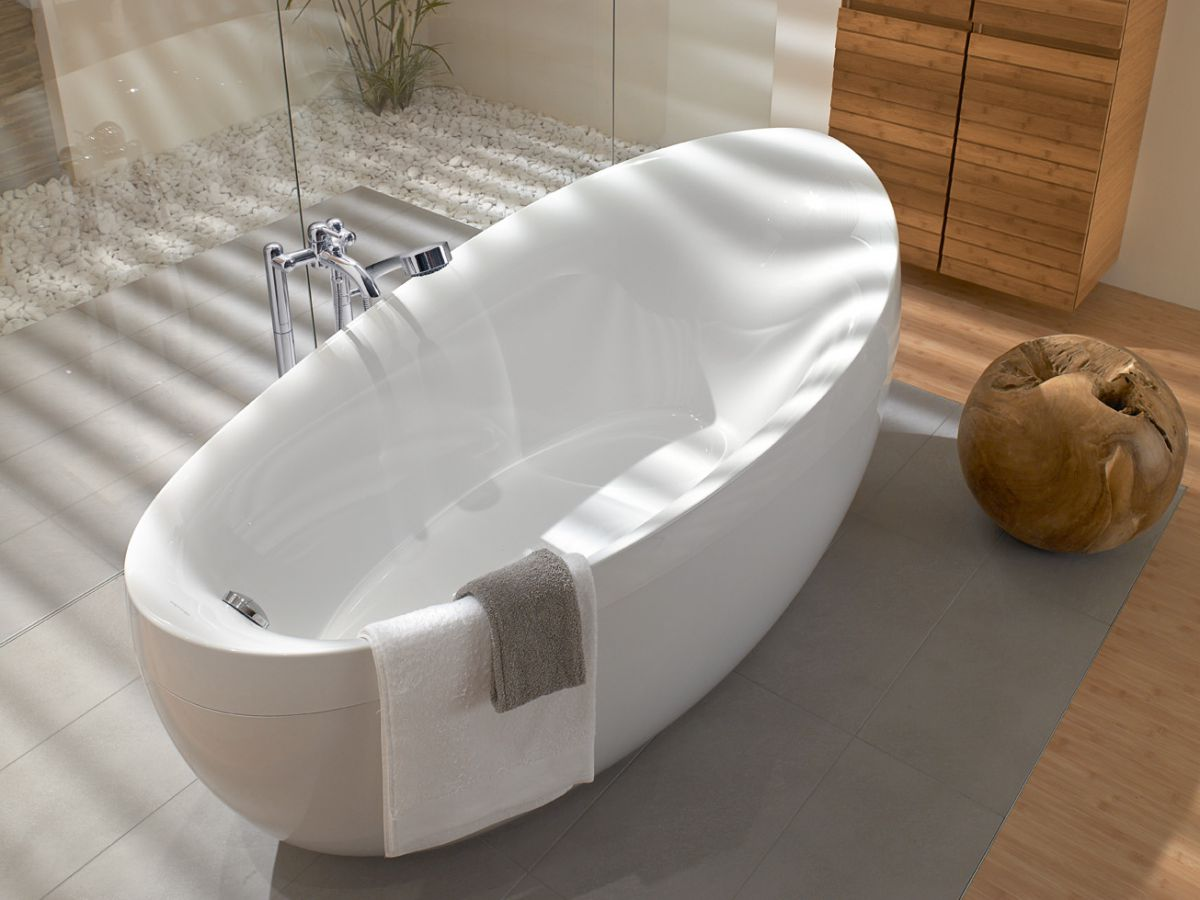 villeroy boch aveo freestanding oval bath uk bathrooms. Black Bedroom Furniture Sets. Home Design Ideas