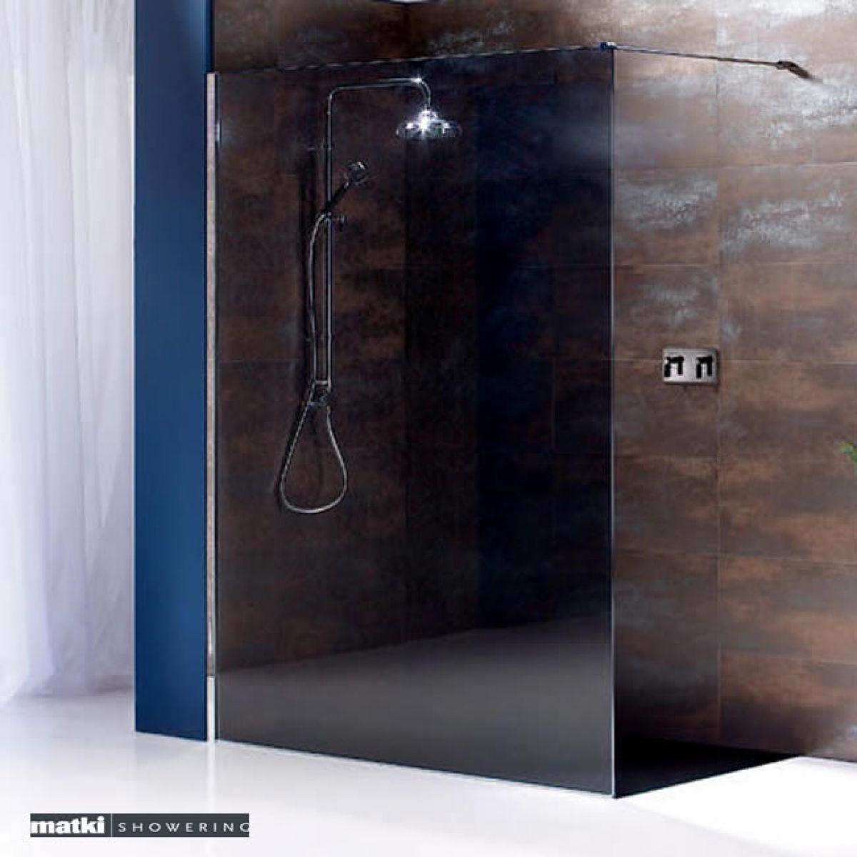matki straight wet room shower panel