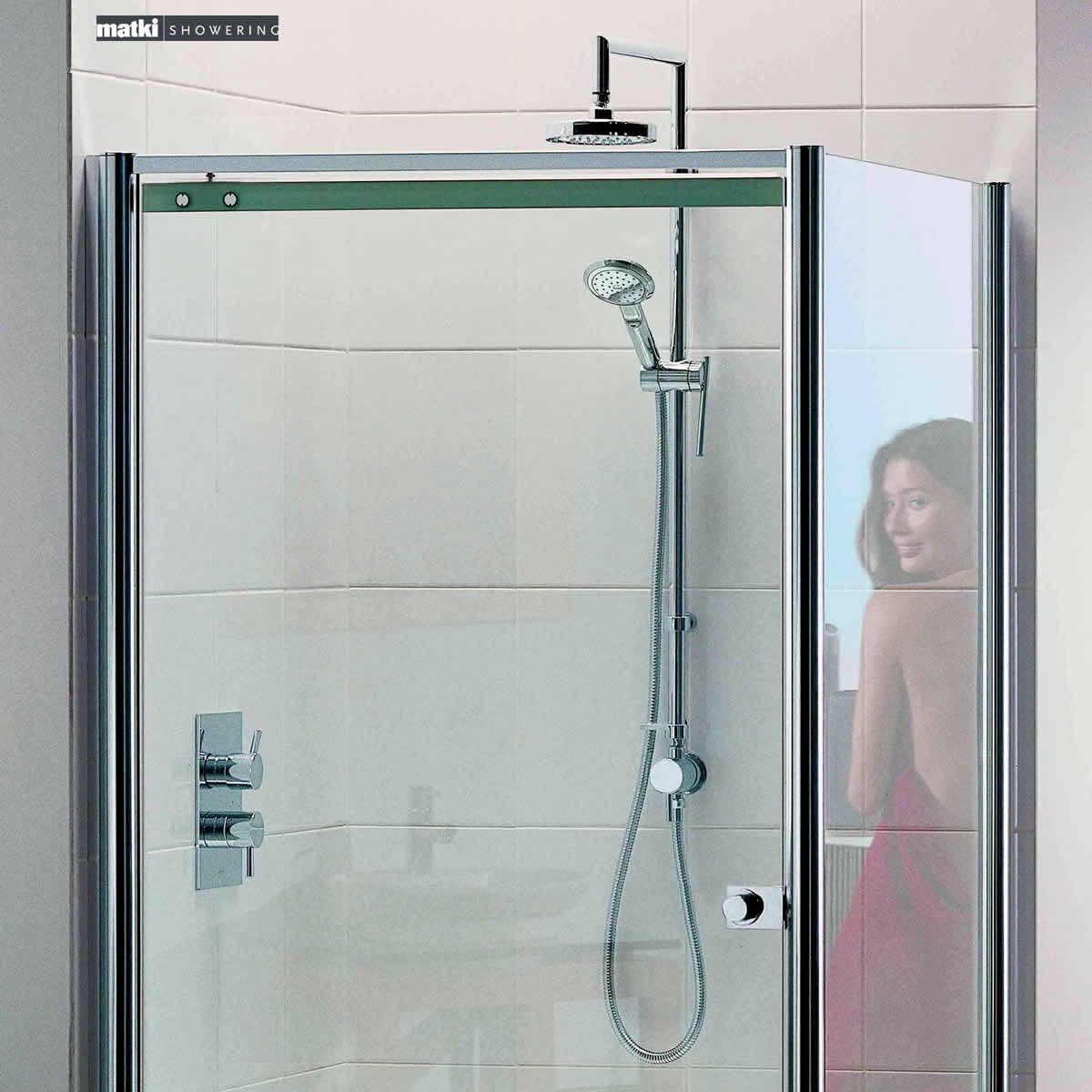 Matki colonade pivot corner shower door uk bathrooms for 1200 pivot shower door