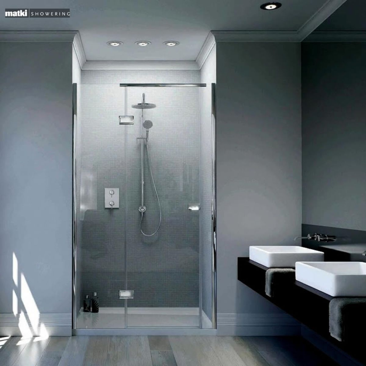 Pin Shower Without Door Licious Showers Without Doors With Shelves on ...