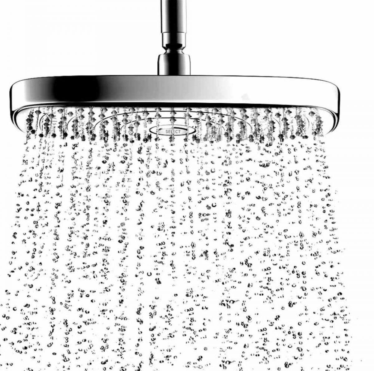 hansgrohe raindance select e 300 2jet overhead shower uk bathrooms. Black Bedroom Furniture Sets. Home Design Ideas