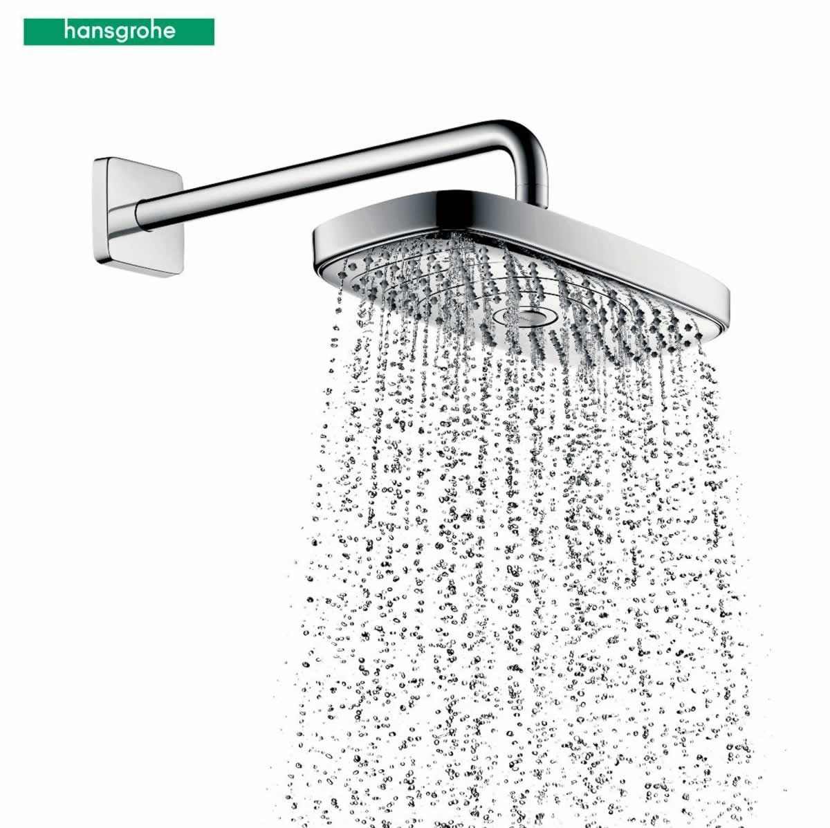 hansgrohe raindance select e 300 2jet overhead shower. Black Bedroom Furniture Sets. Home Design Ideas