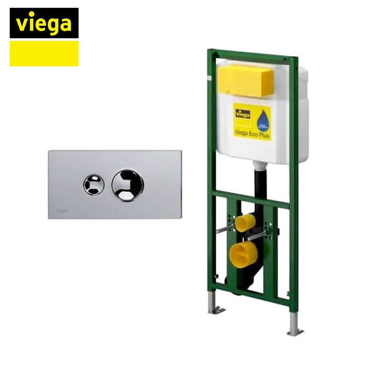 Viega S4 Eco Plus Framed Cistern And Visign For Style 10