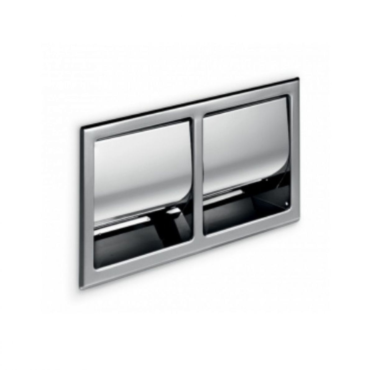 inda hotellerie double recessed toilet roll holder