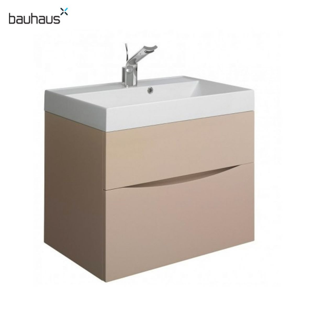 bauhaus glide ii 70 wall hung vanity unit with basin ukbathrooms