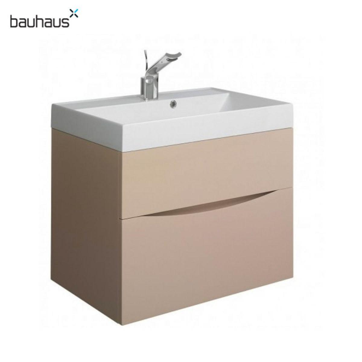 bauhaus glide ii 70 wall hung vanity unit with basin ukbathrooms