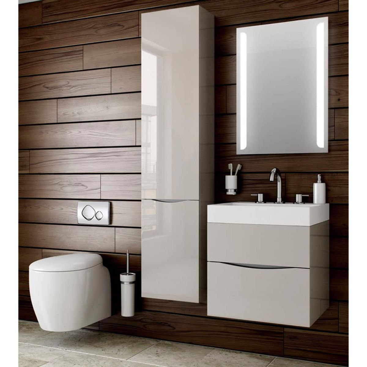 Bauhaus glide ii 70 wall hung vanity unit with basin for Bathroom cabinet ideas furniture