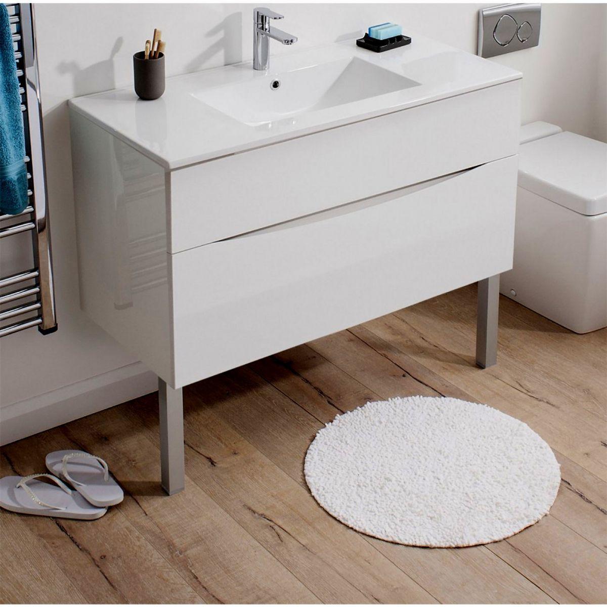 home bathroom furniture vanity units bauhaus glide ii floor support legs pair