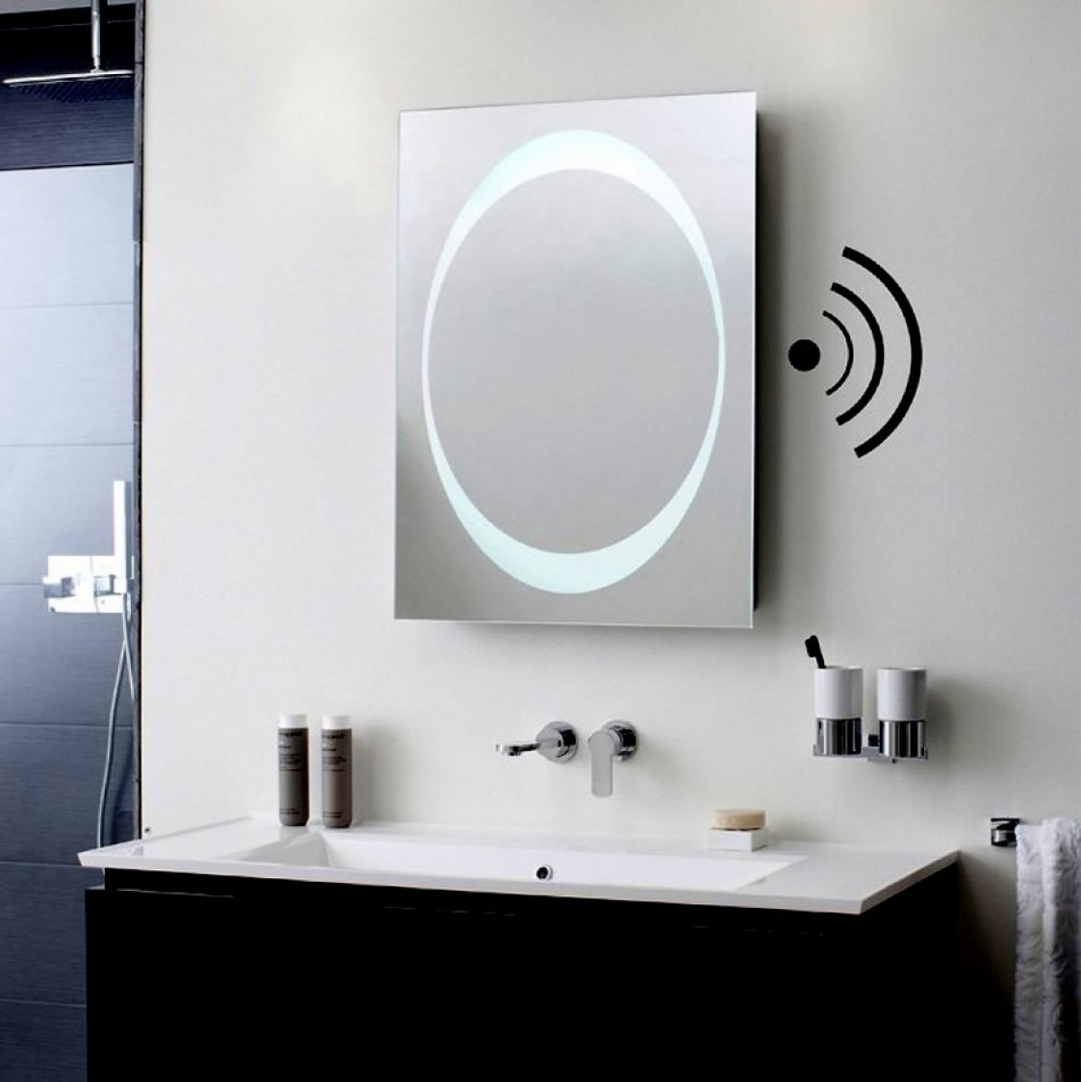 Bauhaus Revive 1 0 Led Mirror With Bluetooth Speakers Uk