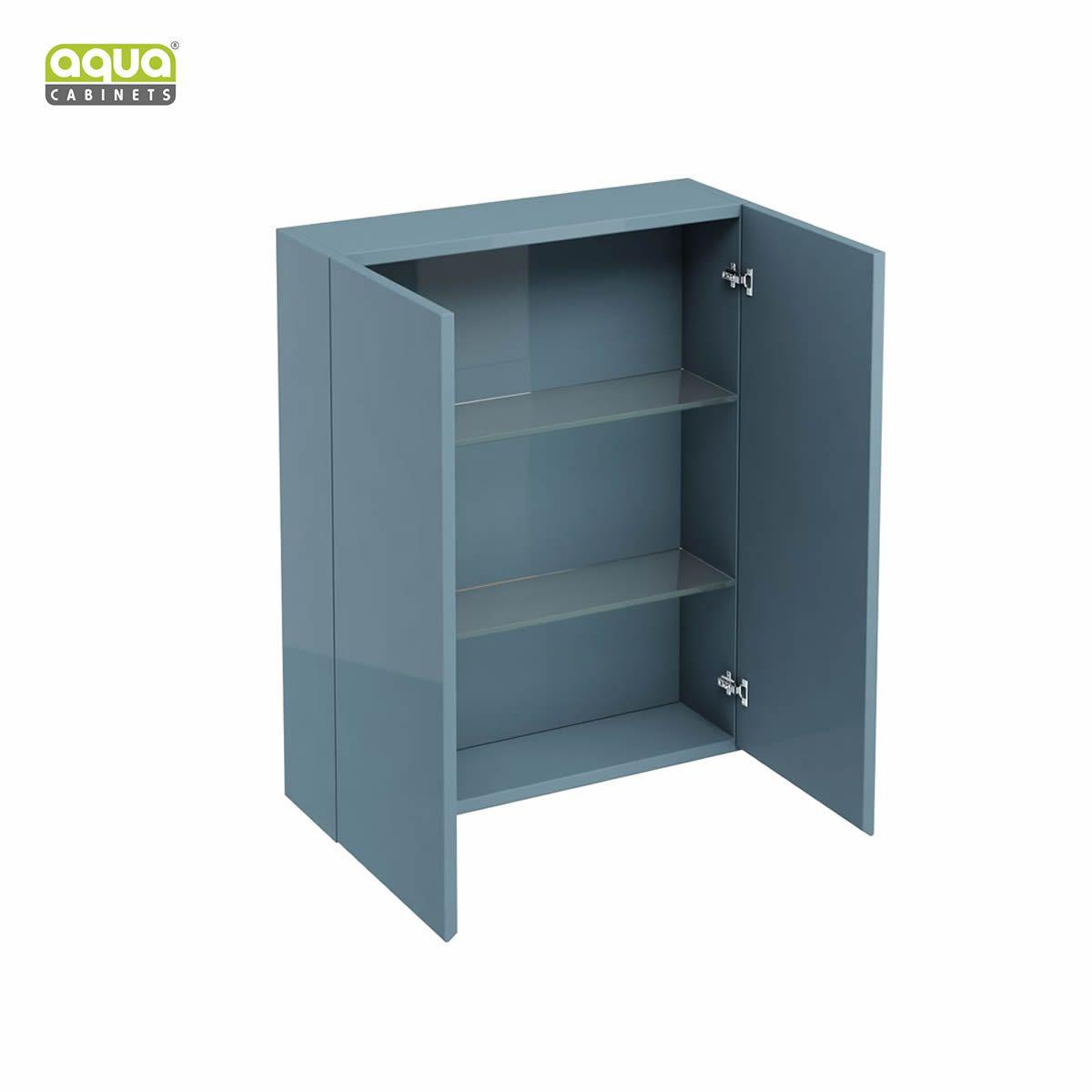 Aqua cabinets d300 wall unit 600mm uk bathrooms for 600mm kitchen wall unit