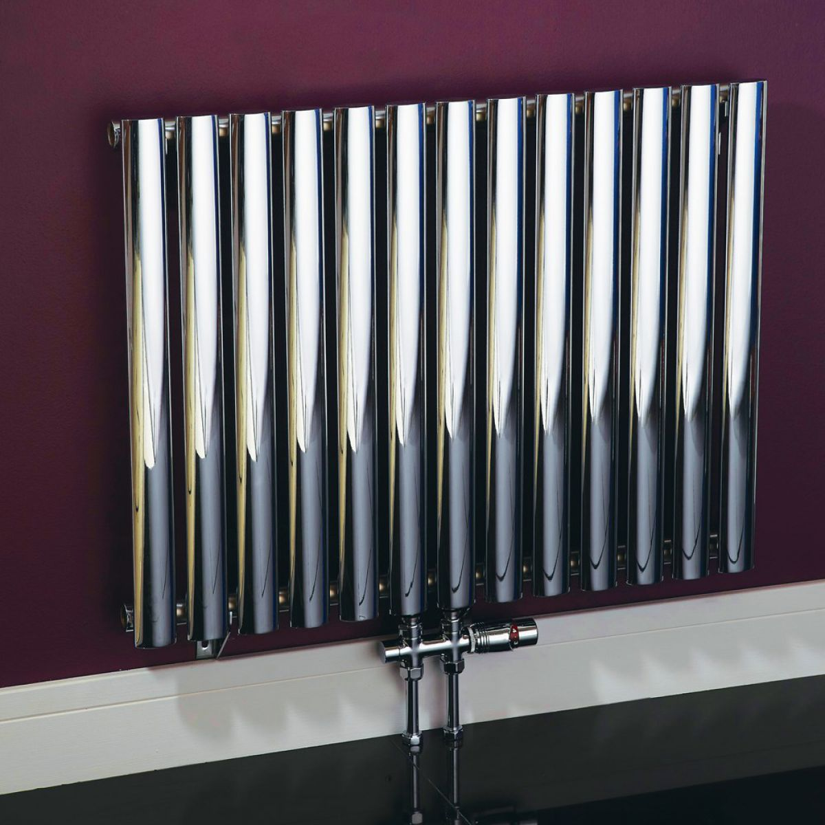 Phoenix louise chrome designer radiator uk bathrooms for Household radiator design