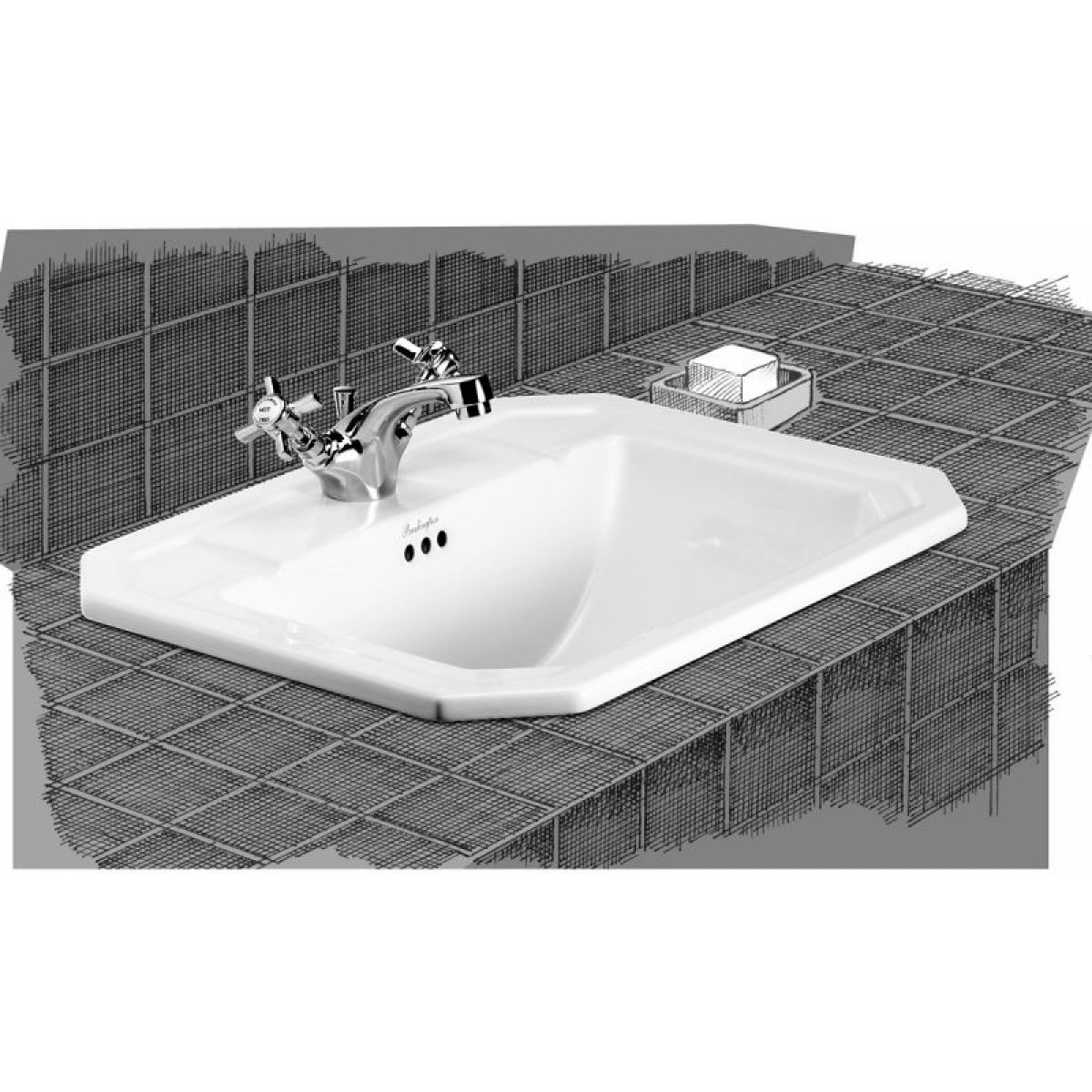 Fantastic Home Bathroom Basins Semi Recessed