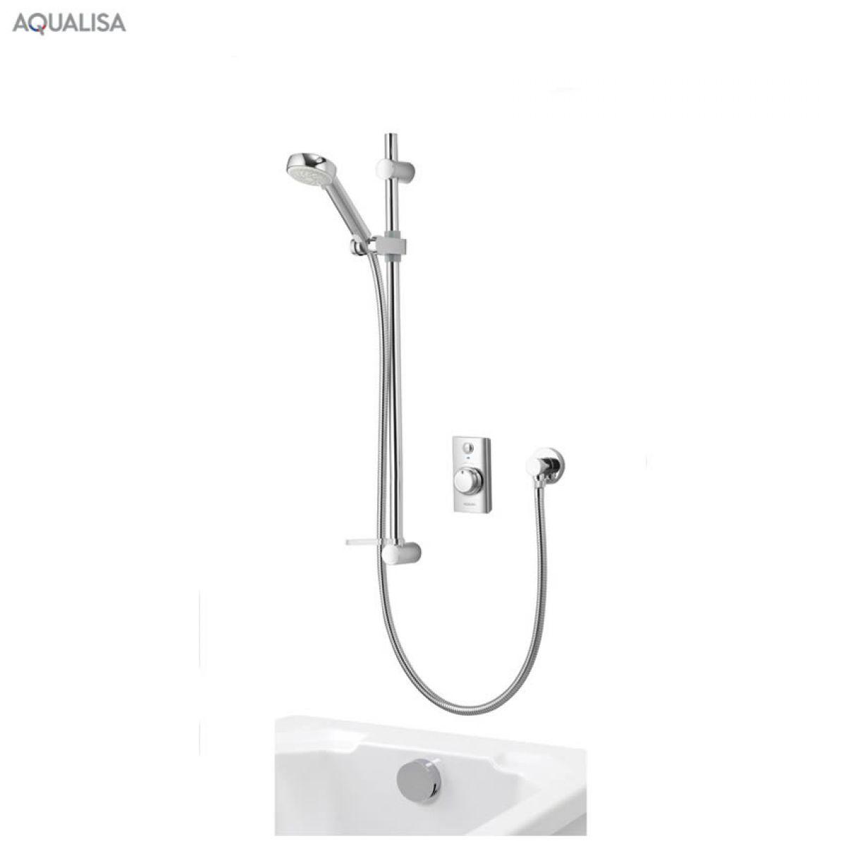 aqualisa visage smart concealed shower with bath filler. Black Bedroom Furniture Sets. Home Design Ideas