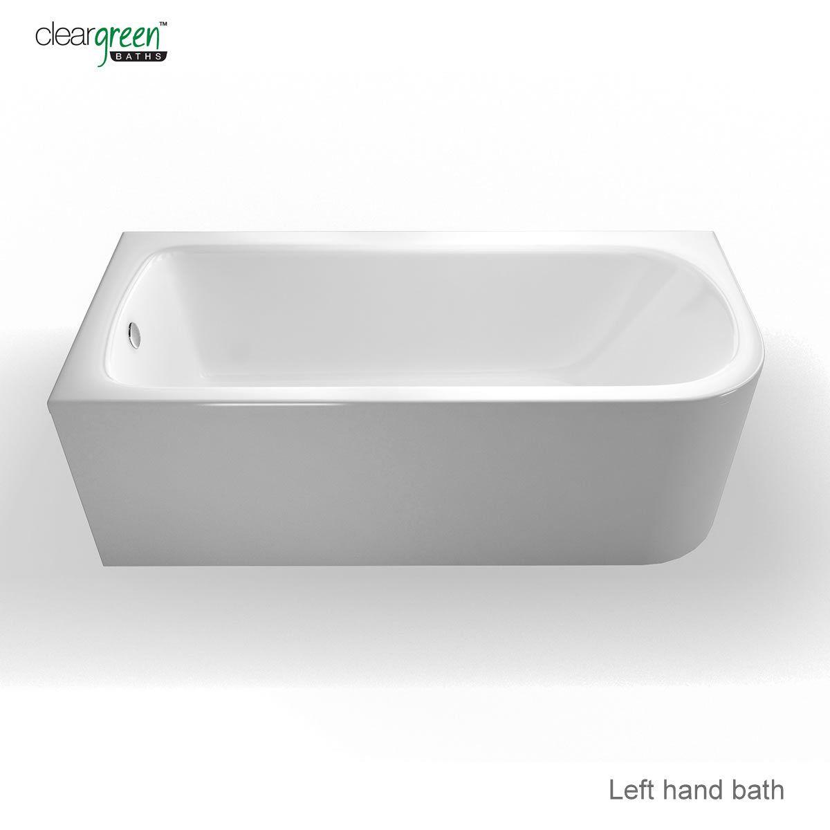 cleargreen viride offset bath uk bathrooms twyford indulgence 1600 x 500 1000mm offset corner shower