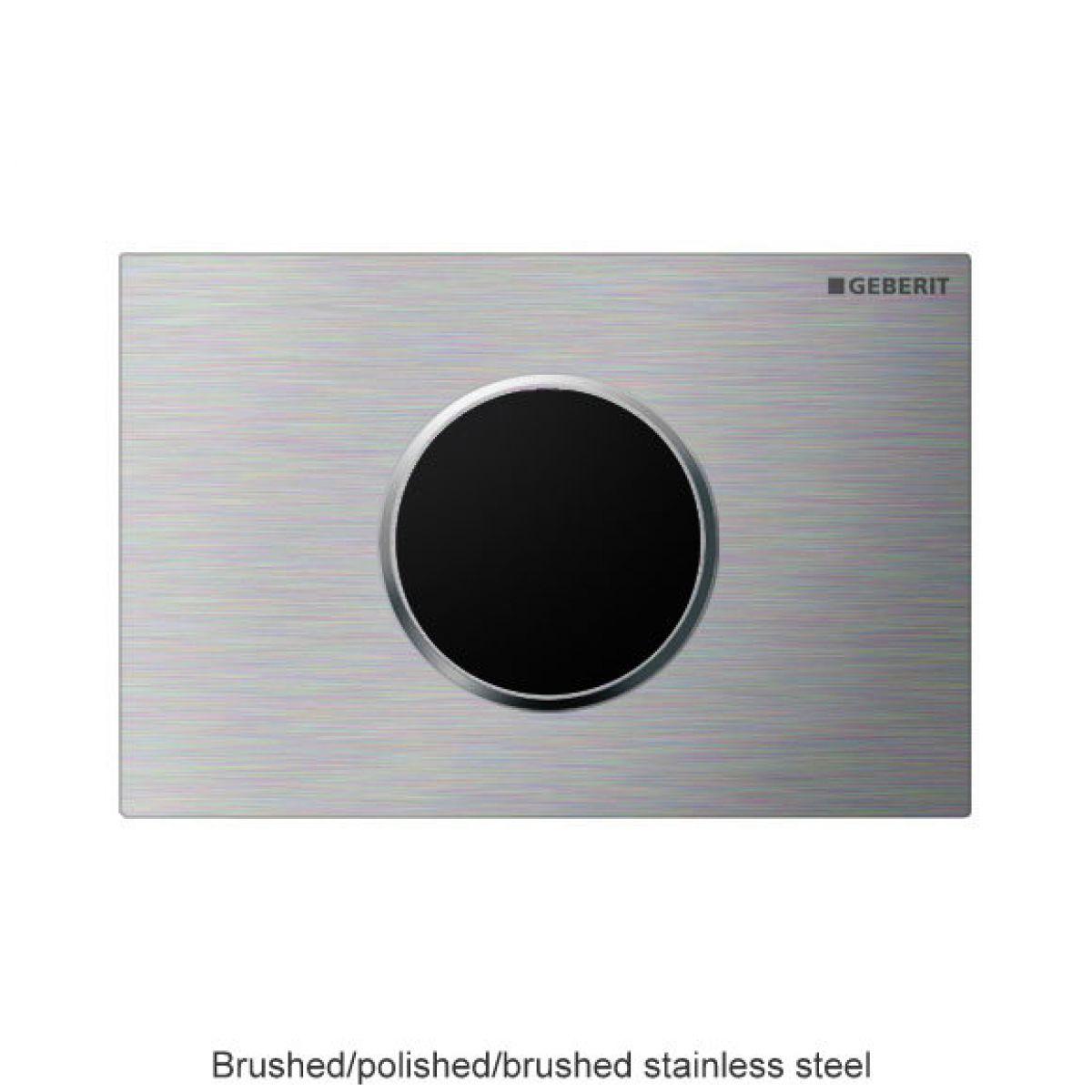 geberit sigma 10 touchless battery powered flush plate uk bathrooms. Black Bedroom Furniture Sets. Home Design Ideas